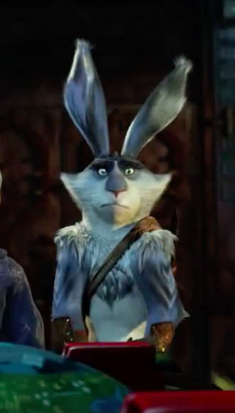 Look at Bunny's face! Look at it! Poor Bunnymund really didn't want to get in that sleigh. /// rotg rise of the guardians