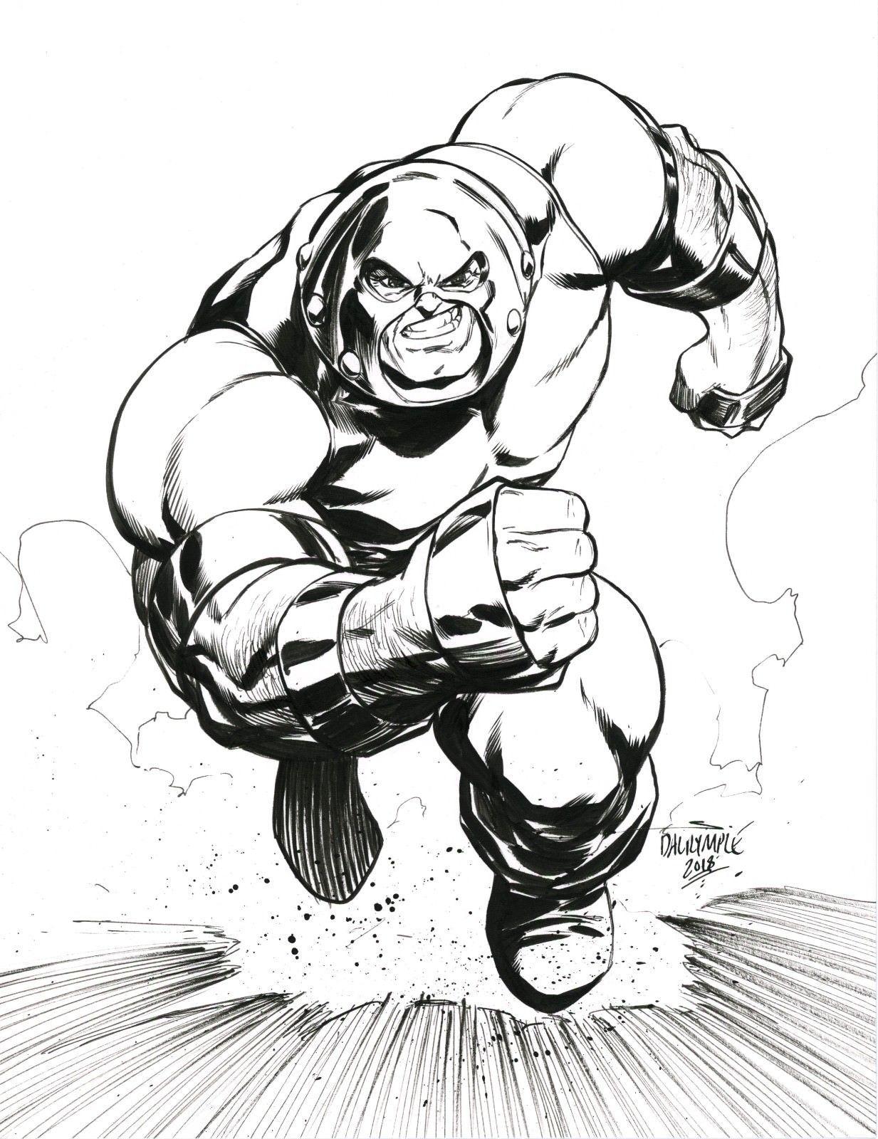 Juggernaut By Scott Dalrymple Xmen Art Art Black White Art