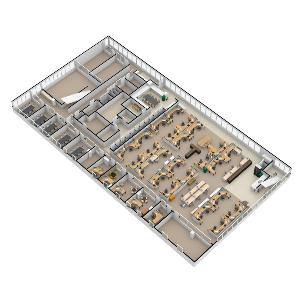 3d View Of A Big Project Made By A Member Of The Floorplanner Community Create Floor Plan Floor Plans Office Space