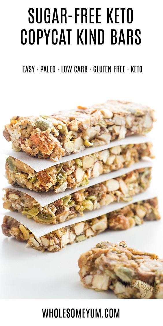 The Best Sugar-Free Low Carb Granola Bars Recipe - Kind ...