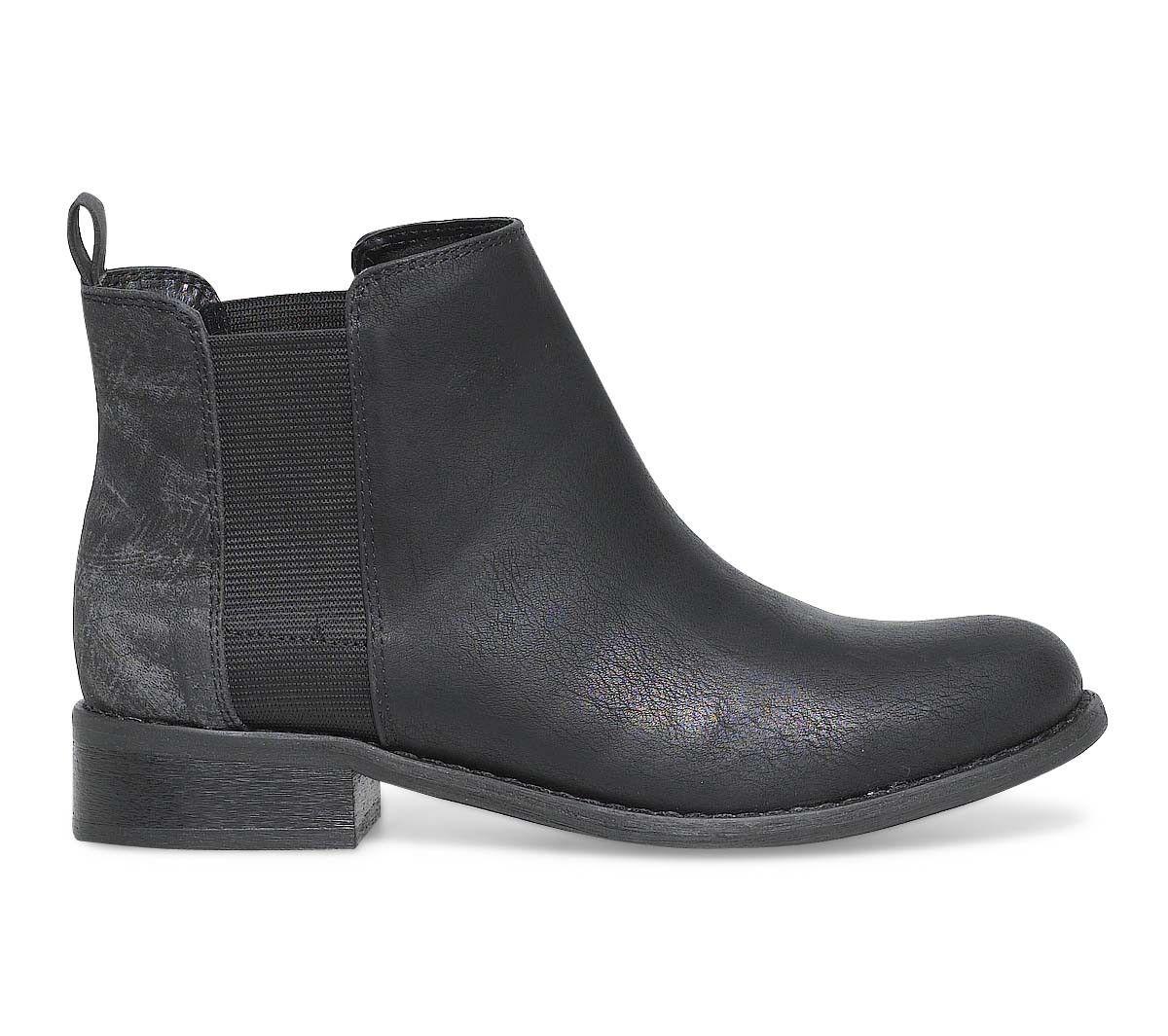 bottines plat Boots gris noir boots FemmeShoes oxdCrBe