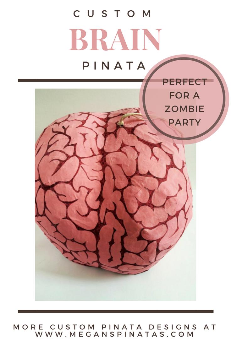Brain Pinata Zombie Party Game Halloween Pinata Halloween Party ...