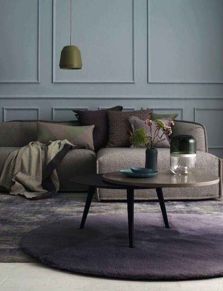 farbtrends f r 2018 wohnen und leben in neuen farbkombinationen an den w nden im wohnzimmer. Black Bedroom Furniture Sets. Home Design Ideas