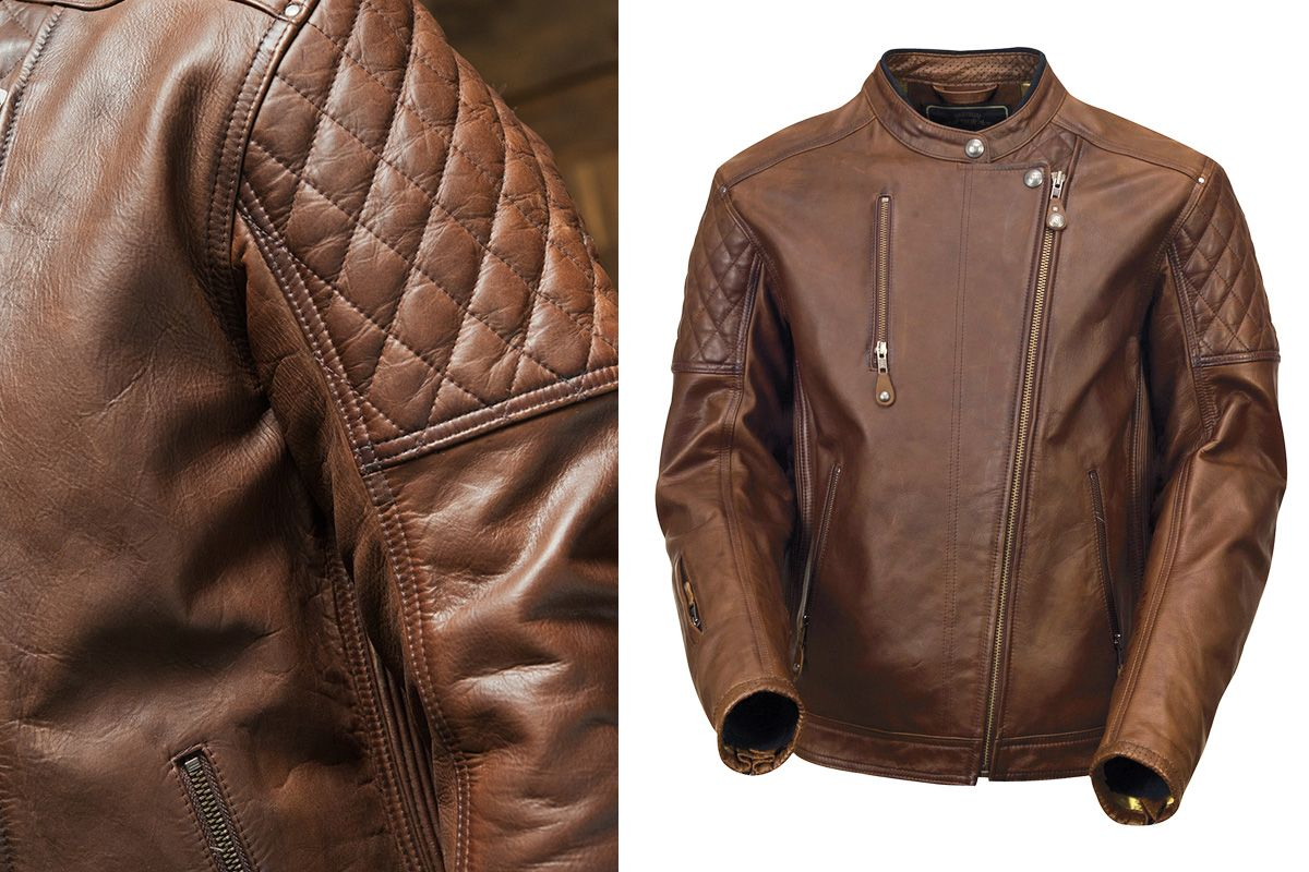 Gear Review Rsd Clash Tobacco Jacket Return Of The Cafe Racers Brown Leather Motorcycle Jacket Motorcycle Outfit Riding Gear [ 800 x 1200 Pixel ]
