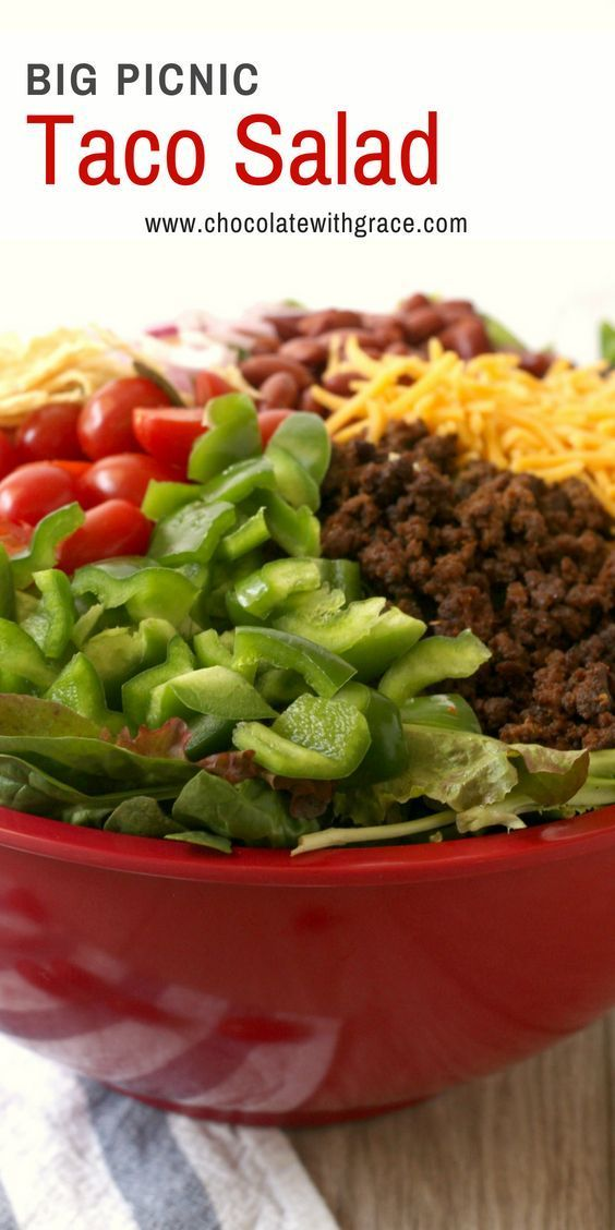 Big Picnic Taco Salad - Chocolate With Grace