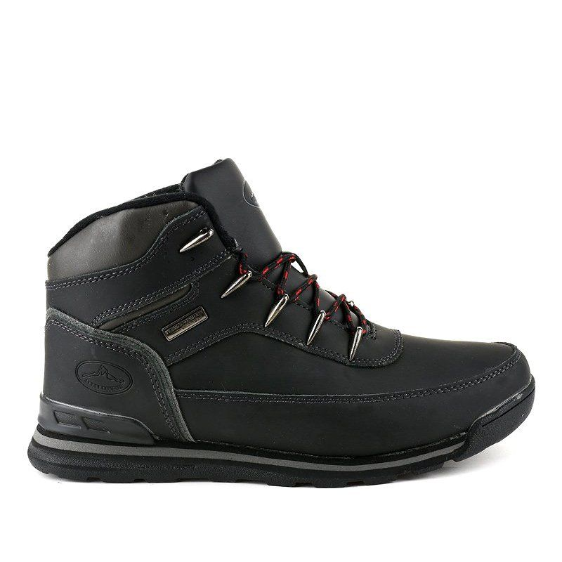Black Insulated Snow Boots Mxc 7589 Boots Mens Snow Boots Snow Boots