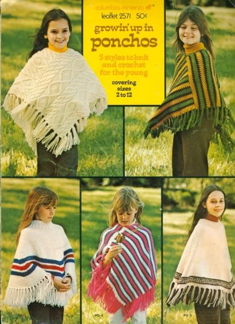 Knitted Poncho Patterns For Children Up In Ponchos Knit