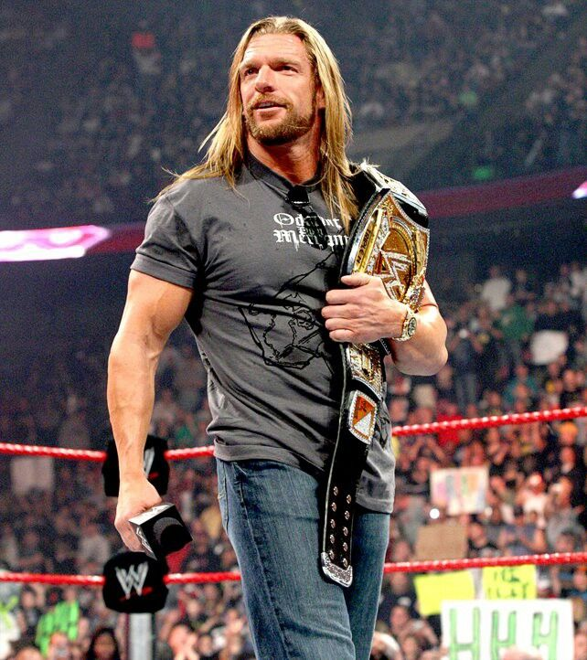 Triple H Before That Haircut Can T Get Used To It Wwe Champions Triple H Wwe World