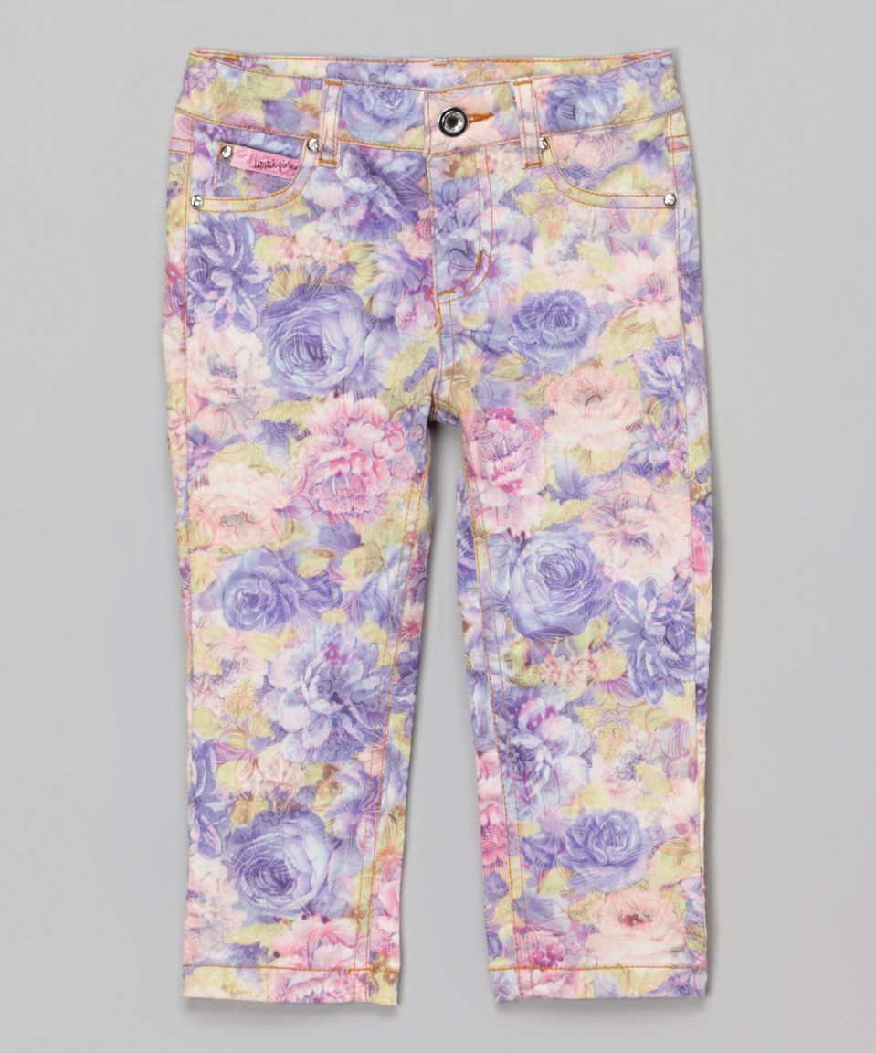 Look At This Zulilyfind Lipstik Girls Purple Floral Garden Jeans Baby Toddler