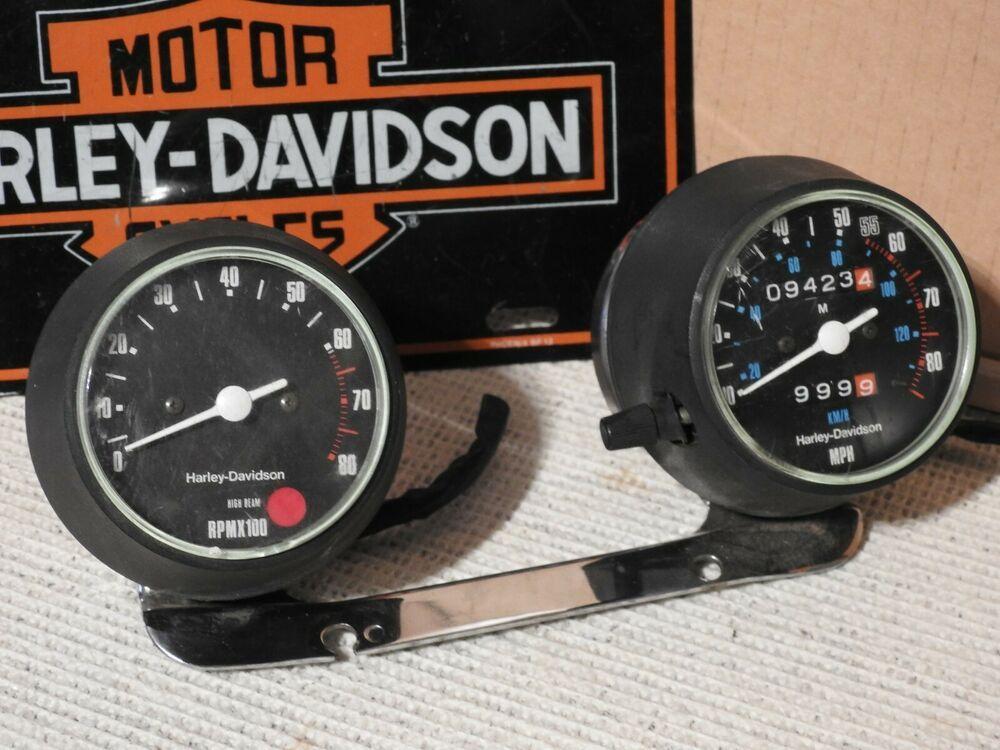 Ebay Sponsored Harley Davidson 1000 Ironhead Sportster Gauges