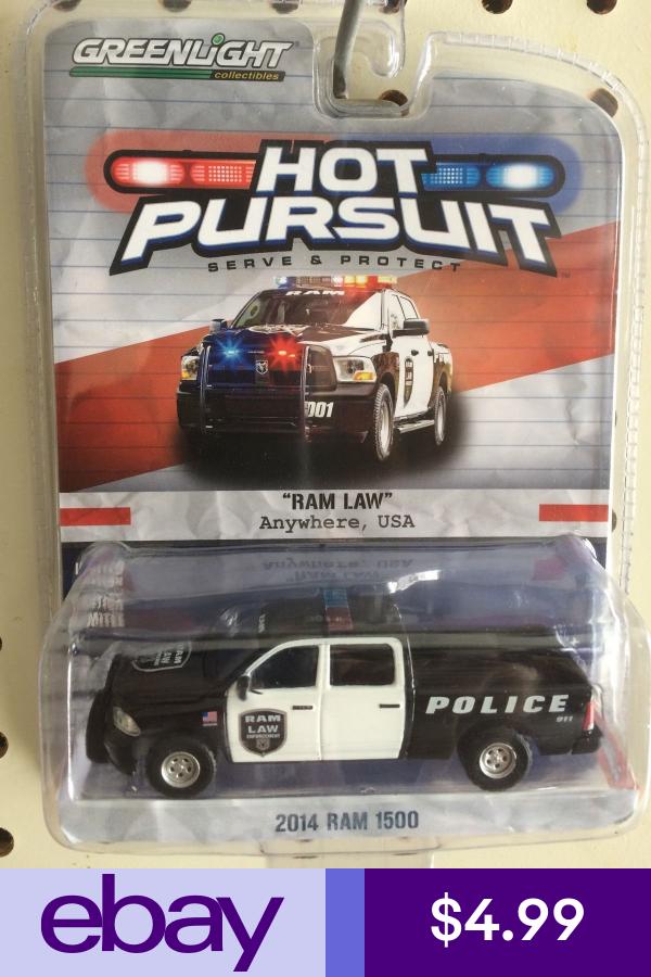 Greenlight Hot Pursuit 2014 Dodge Ram 1500 Ram Law Farm Toy Display Lego Baby Toy Car