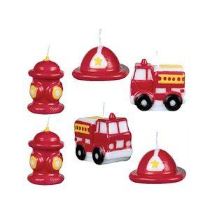 Fire Engine Mini Cake Candles