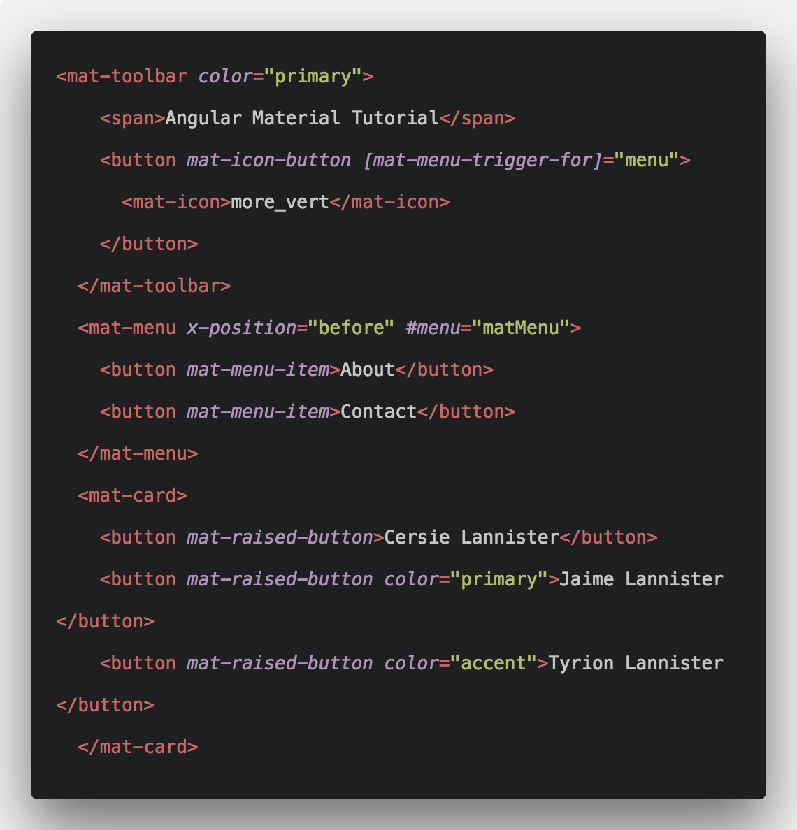 Angular Material Example Tutorial From Scratch | Angular