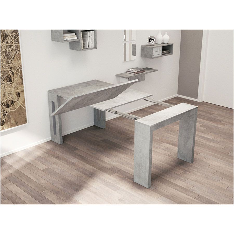Estuary Convertible Console Dining Table Gray Dining Table