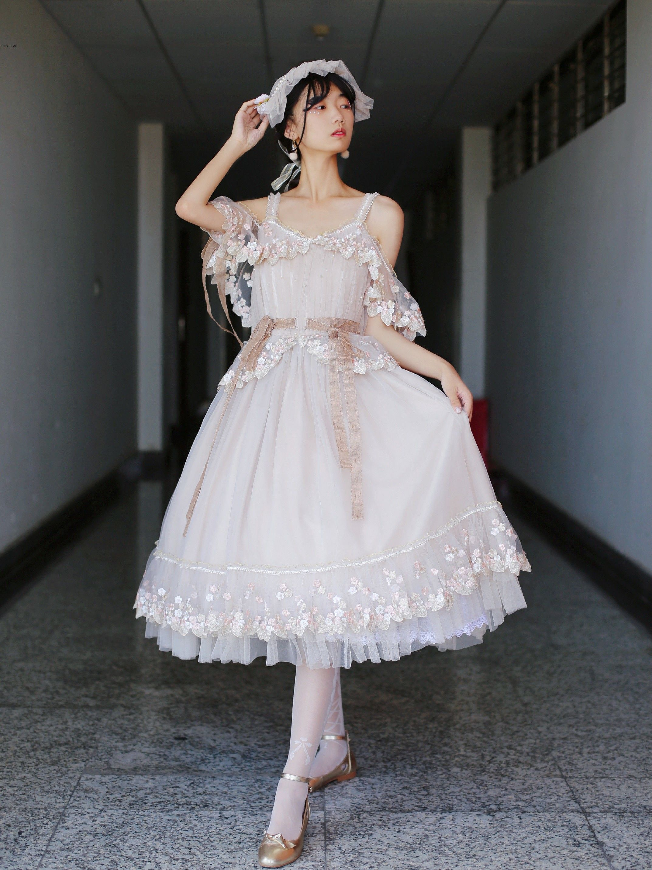 This time the rite of spring vintage classic lolita jumper dress