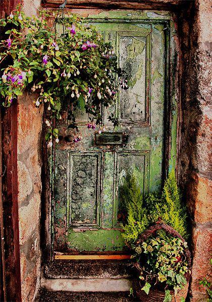 Green Door, Virgin Street, St Ives, Cornwall Canvas Print By Brian Pierce