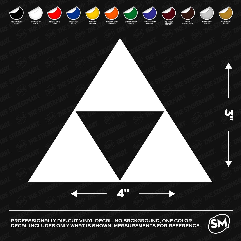 Legend of Zelda Triforce Logo 4x3 Vinyl Decal Etsy