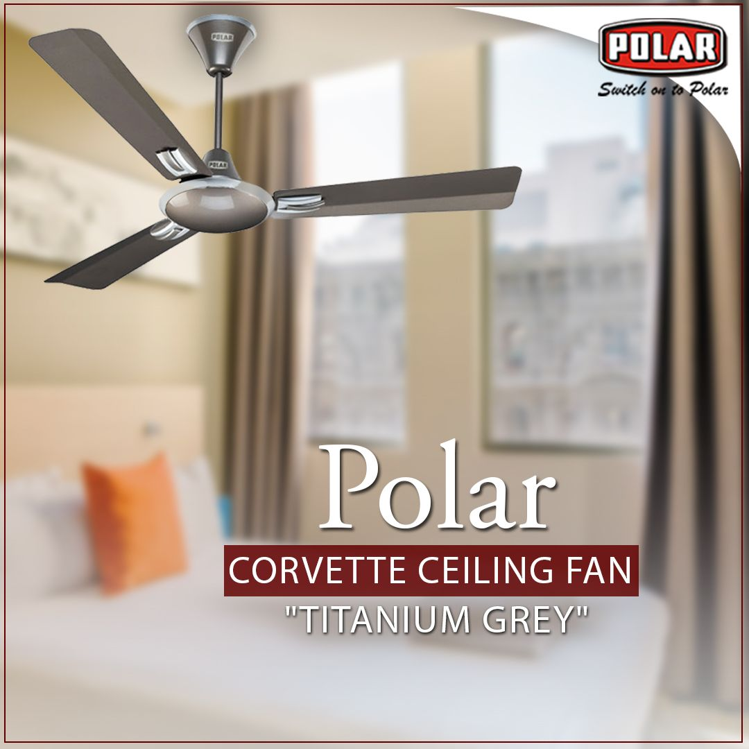 Polar Brings To You Two Tone Metallic Colour Ceiling Fan With An Elegant Design For Your Classy Interior Polar Ceiling Fan Gray Ceiling Fan Metallic Colors