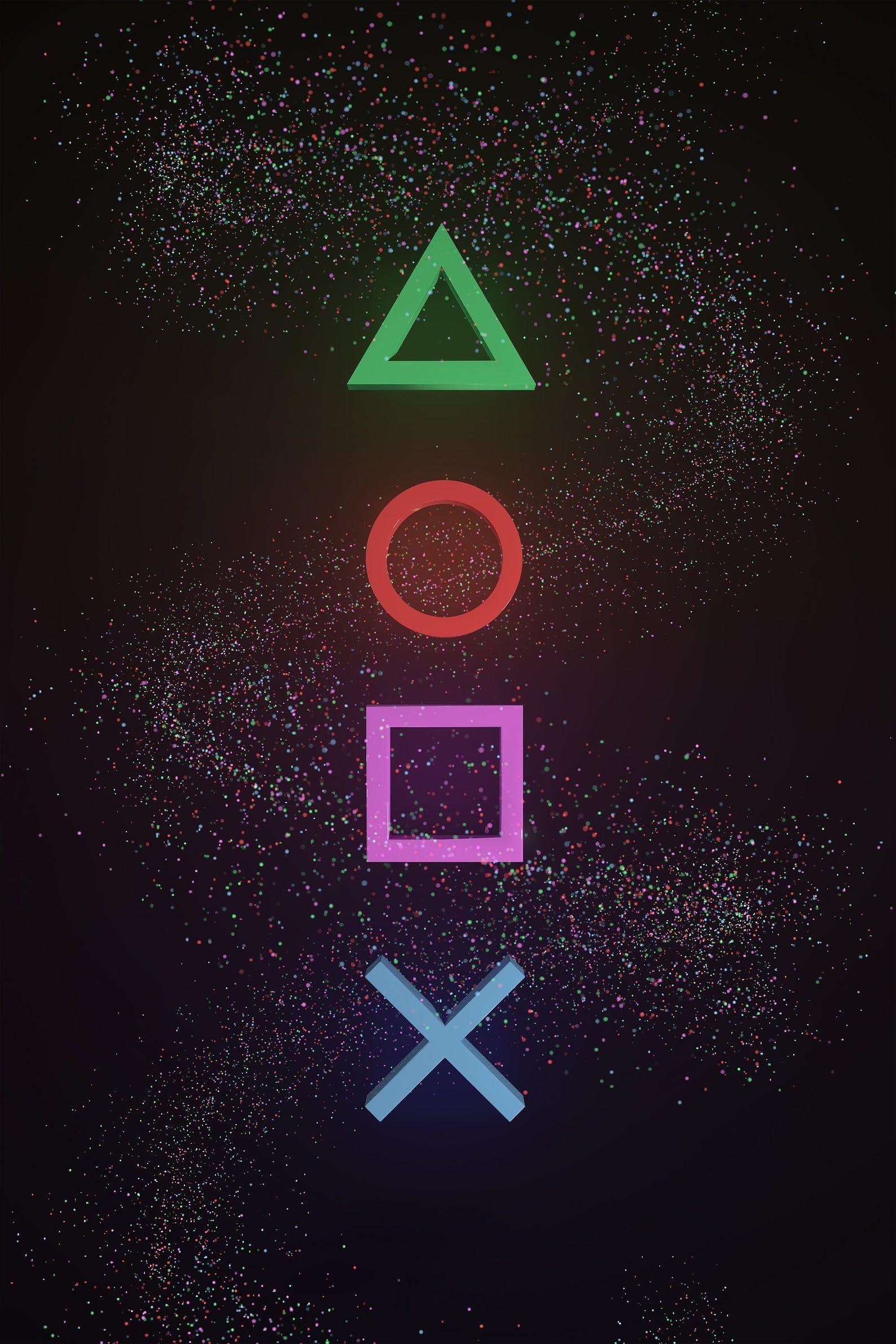 Playstation Inspired Art, PRINT, Poster, Symbols, Gaming
