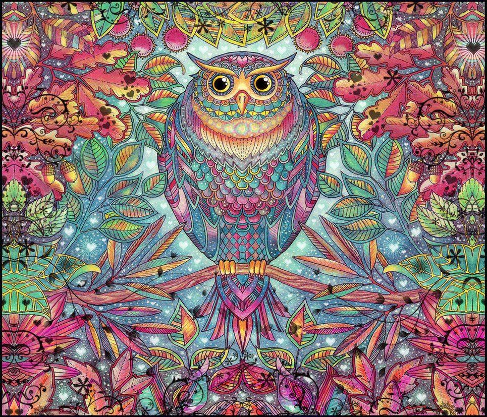 Антистресс раскраски для взрослых. Арт-терапия | Enchanted ...