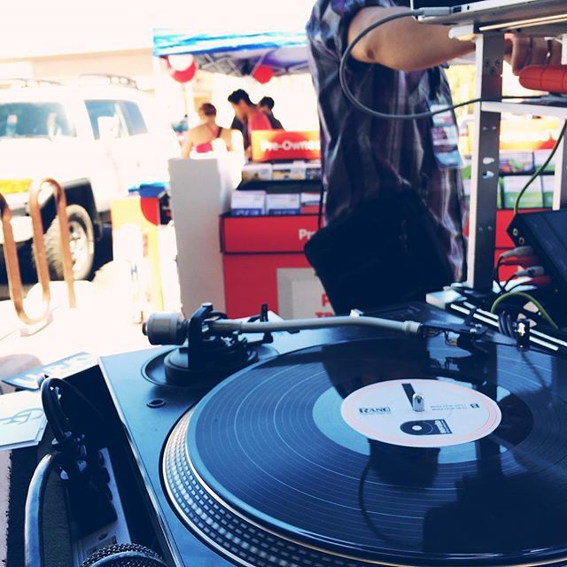 In The Mix outside @gamestop in San Jacinto come by we giving out @cali_fosho_clothing apparel!!! #backtoschoolblowout #djvictor #victorthedj