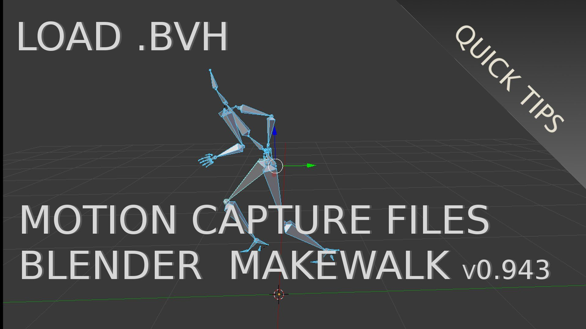 Load  BVH Motion Capture Files Onto A Rig (Blender 2 73