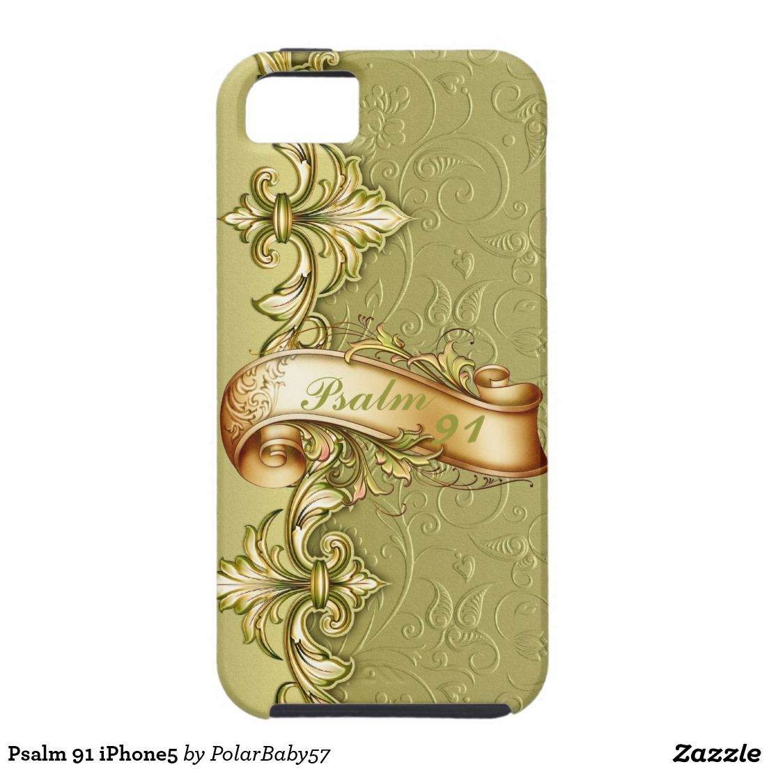 Psalm 91 iPhone5 iPhone 5 Case. I CAN CREATE THIS NDESIGN ON ANY CELL PHONE CASE