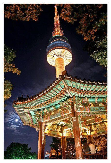 Seúl Corea Del Sur Torre Seúl Corea Del Sur Turismo Viajar A Corea Del Sur Corea Del Sur