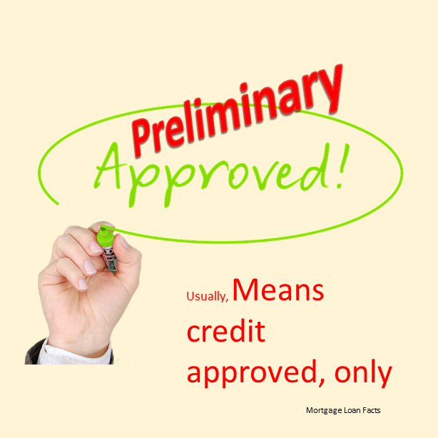 What Does A Preliminary Approval Mean  Mortgage Loan Facts
