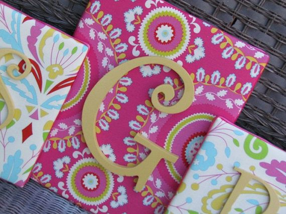 Nursery Letters Kumari Garden 3 Piece Letter by spellitwithstyle, $55.00