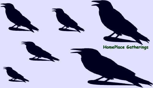 Crows Blackbirds Ravens Stencil For Painting By