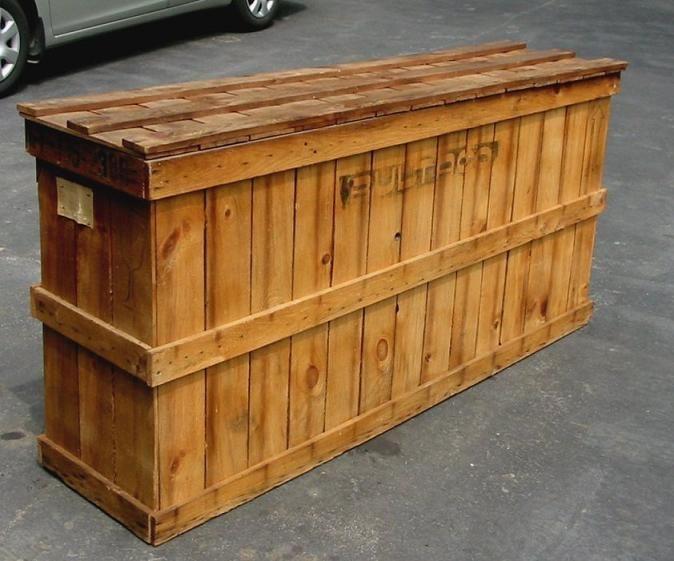 Reciclo caja grande de madera carpinteria cajas madera pinterest cajas caja de madera y - Reciclar cajones de madera ...