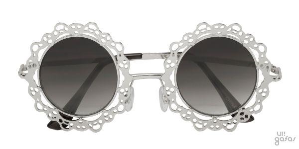Óculos De Sol Redondo Em Metal Imitando Renda || Ui! Gafas