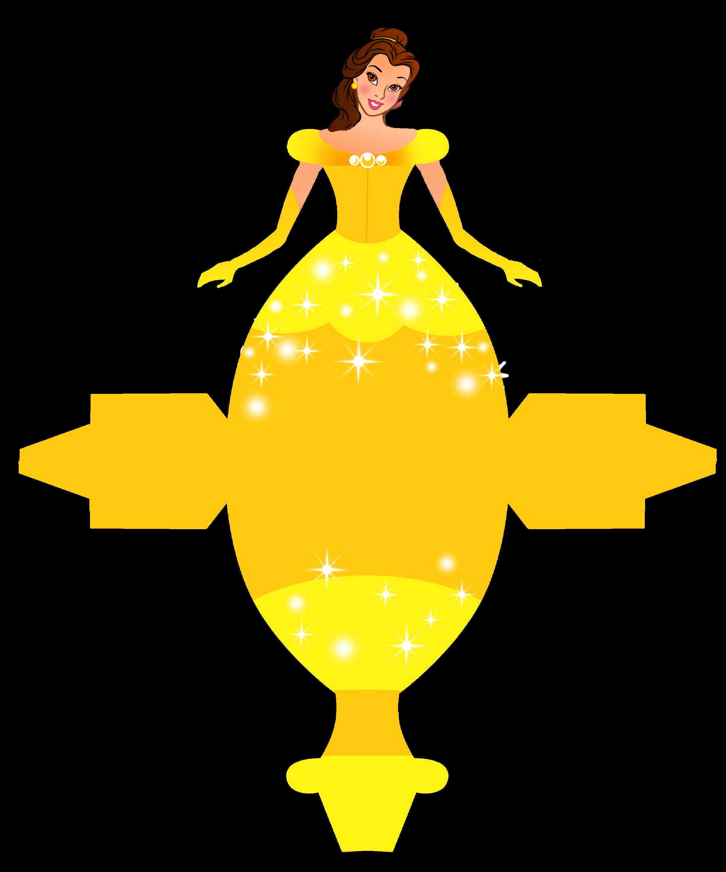 Caixa Vestido das Princesas da Disney! | Free printable ...