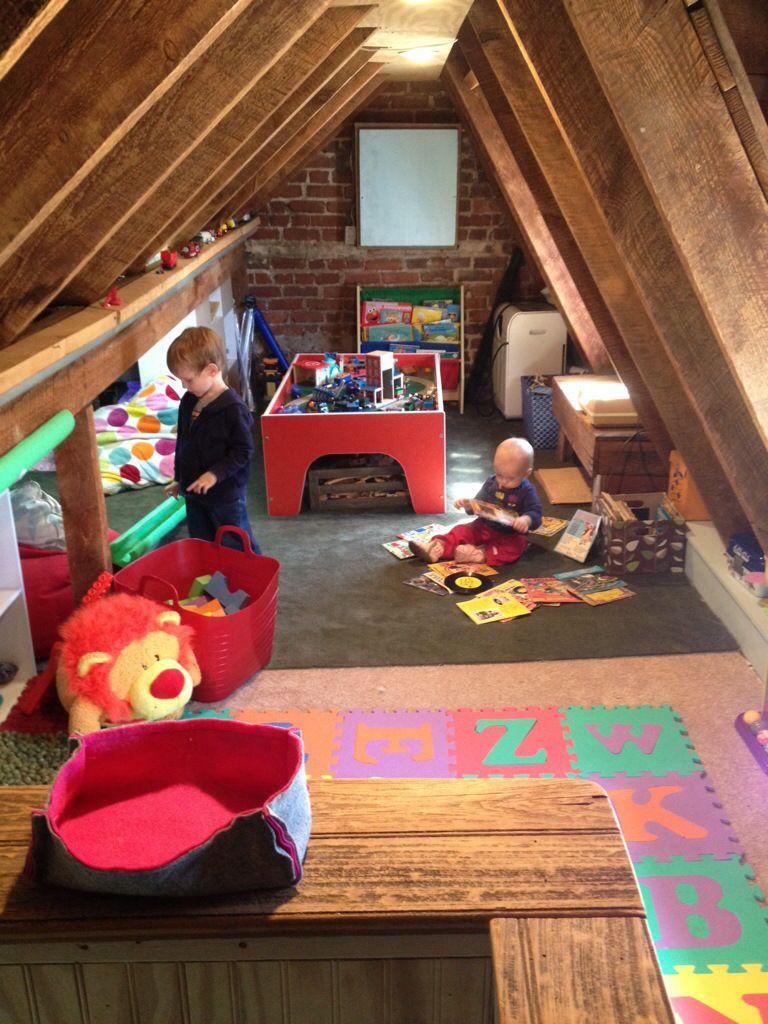 pretty fresh deluxe kids bedroom design | make me pretty – our attic playroom | Attic renovation ...