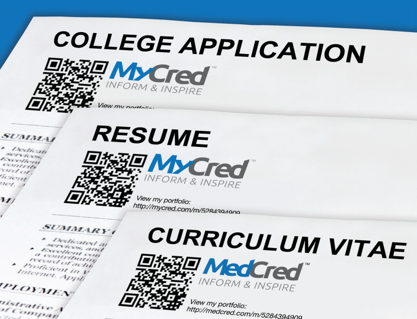 Students Give Yourself An Edge And Stand Apart Include A Qr Code And Link To Your Mycred Portfolio W College Application Online Presentation Curriculum Vitae