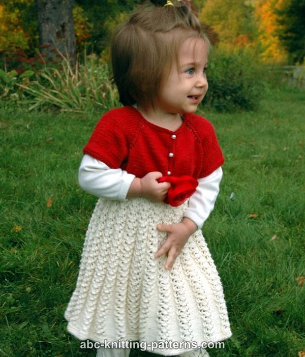 Abc Knitting Patterns Toddler Christmas Dress Knit Pinterest