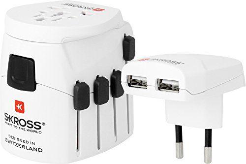 SKROSS 1.302500 TRAVEL ADAPTER, WORLD, DUAL USB, WHITE Sk... https://www.amazon.com/dp/B0072OOJCM/ref=cm_sw_r_pi_dp_x_A2wdzbKTQA3QP