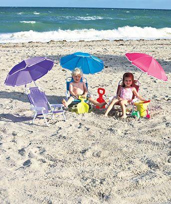 Stupendous Kids Beach Chair With Adjustable Umbrella Summer Beach Customarchery Wood Chair Design Ideas Customarcherynet