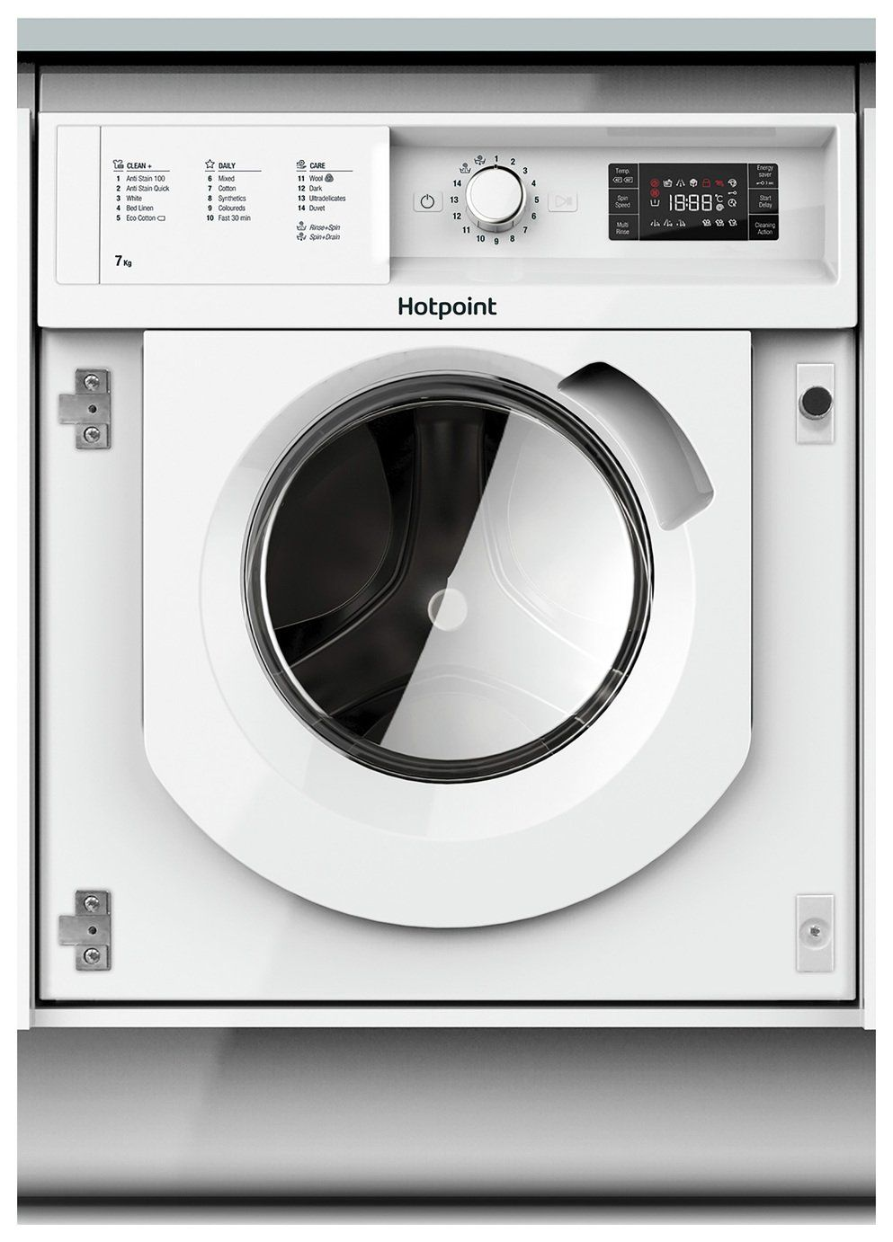Hotpoint Biwmhg71484 7kg 1400 Spin Washing Machine White In 2020 Integrated Washing Machines Washing Machine White Washing Machines