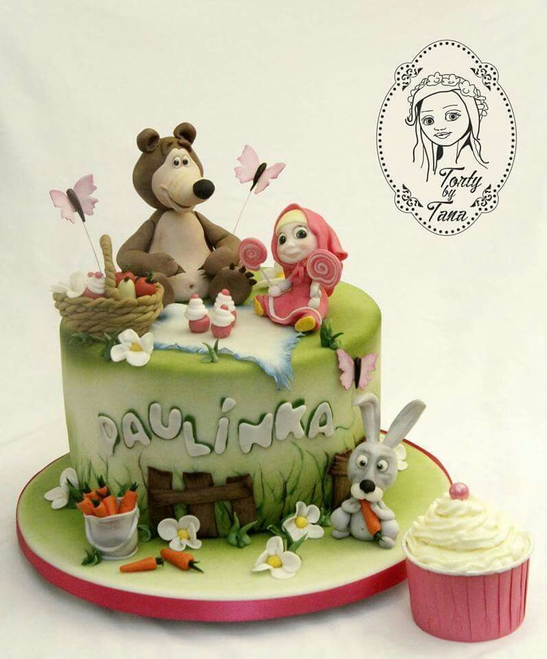 Masha and the Bear cake detsk torty Pinterest Bear cakes