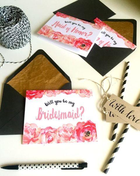 15 DIY 'Will You Be My Bridesmaid' Ideas   HappyWedd.com