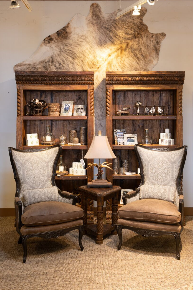 Western Style Office Furniture Western Living Room Decor Western Living Rooms Western Home Decor #rustic #modern #living #room #furniture