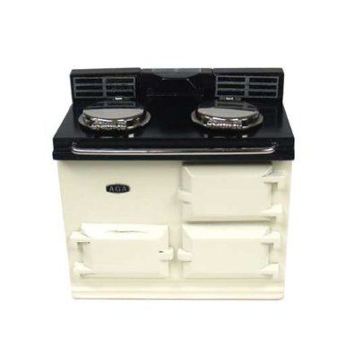Amazon.com: Dollhouse Miniature Off-White Aga Stove by Reutter Porzellan: Toys & Games:  My only real chance of having an Aga stove.