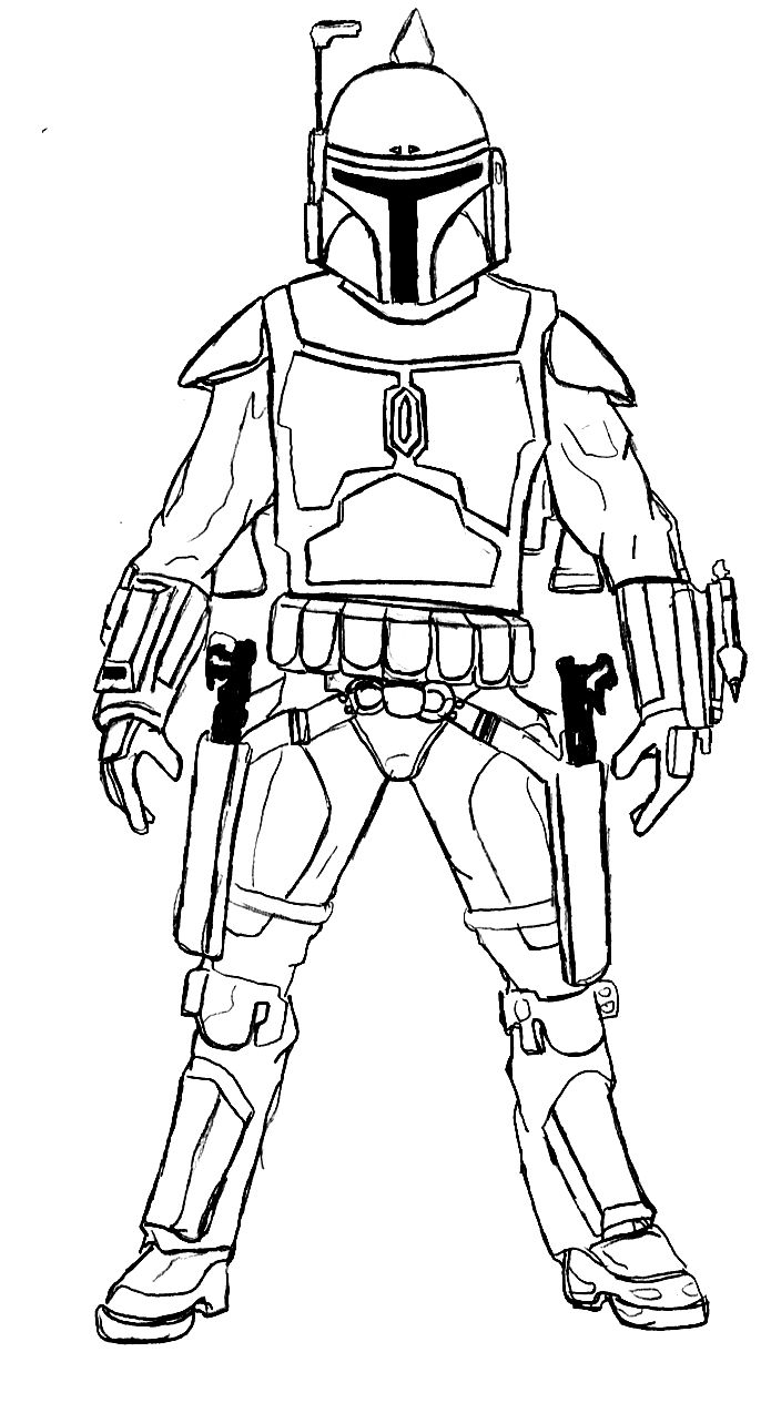 boba fett coloring page # 3