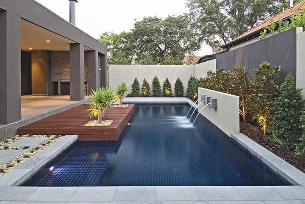 30 Best Modern Contemporary Swimming Pool Design Ideas Modern Backyard Landscaping Modern Backyard Modern Pools