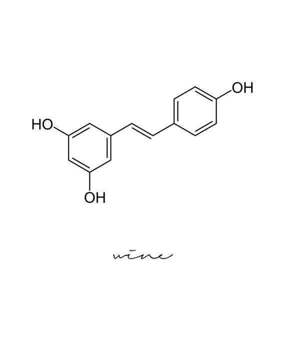 Photo of Wine Molecule, Wine Print, Wine Lover Gift, Chemistry Art, Chemistry Poster, Science Poster, Wine Poster, Wine Wall Art, Wine Decor