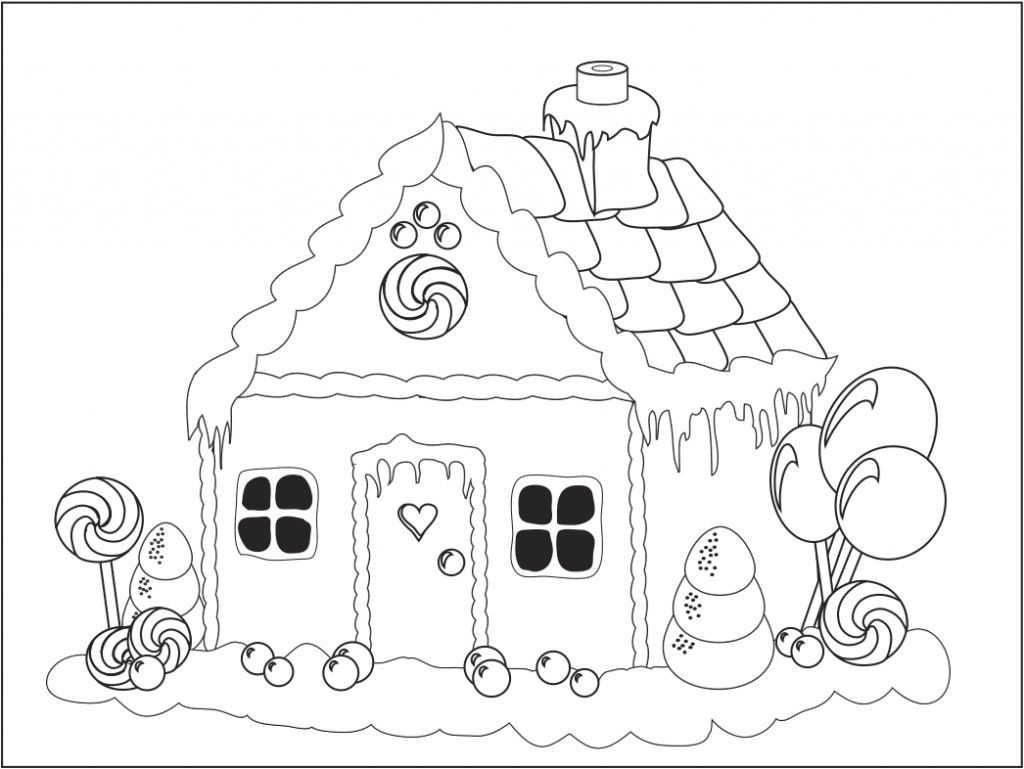 Christmas gingerbread house outline