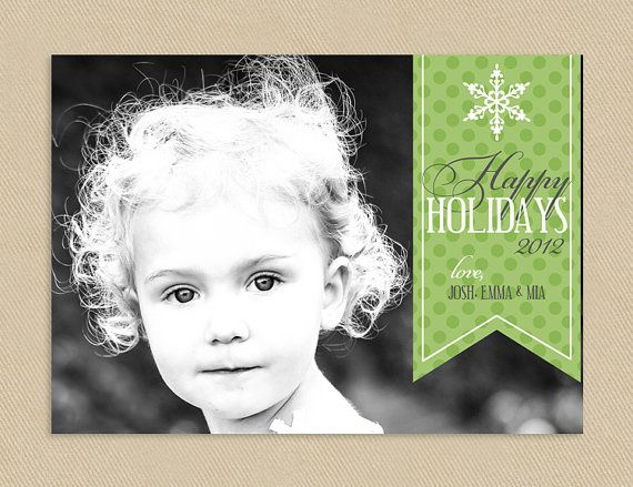 Sale Holiday Christmas Card 4x6 or 5x7 Happy by seedtosprout, $12.75