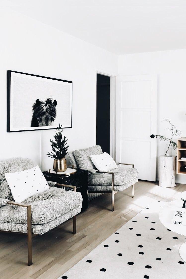 Grey Armchairs | Polka Dot Rug | Modern Home Decor | Home Decor ...